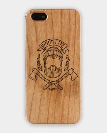 """Coque Téléphone WoodLife """"WoodLife"""" en bois. iPhone 6."""