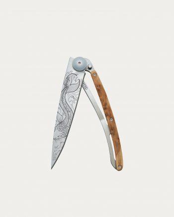 """Couteau de poche Deejo """"Poisson"""" Bois de Genévrier 37 g"""