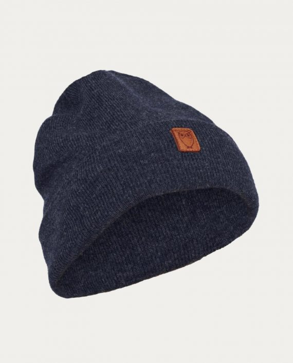 knowledge_cotton_apparel_beanie_hat_bleu_marine