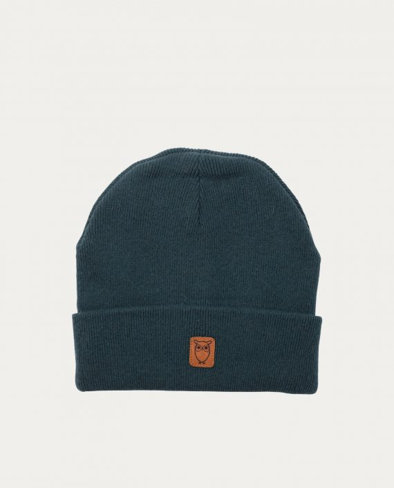 knowledge_cotton_apparel_bonnet_bleu_vert