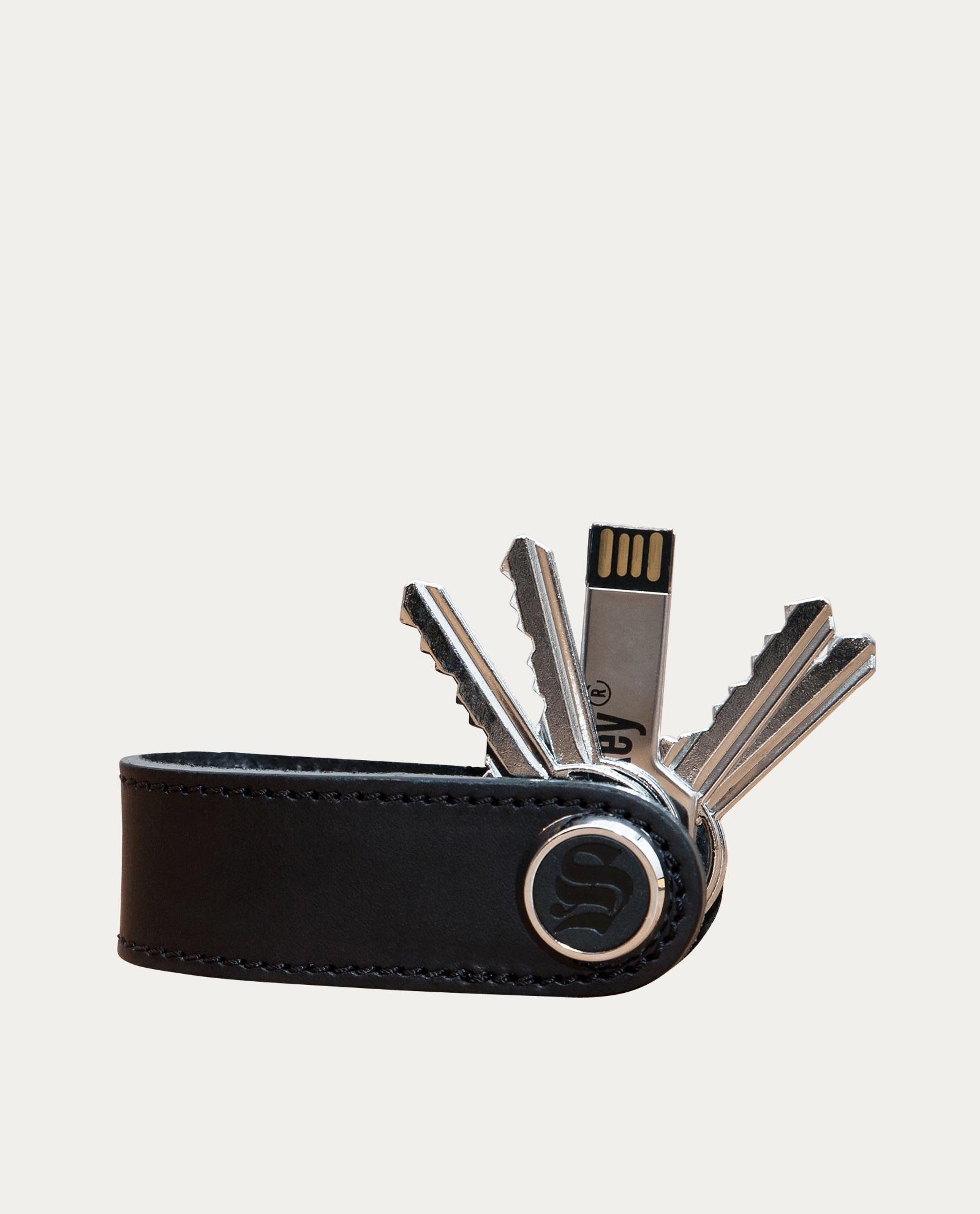 Skey PorteClés Cuir Orange Concept Store Barbier Coiffeur - Porte clef cuir
