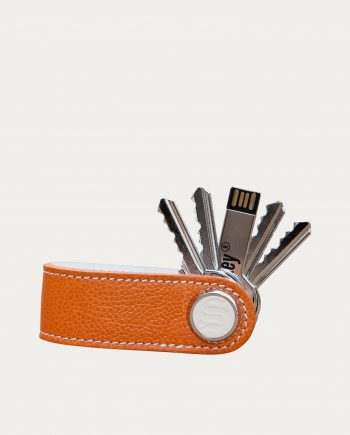 Porte Clés Skey Cuir Orange