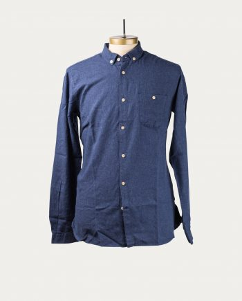 knowledge_cotton_apparel_chemise_flanelle_bleu_1