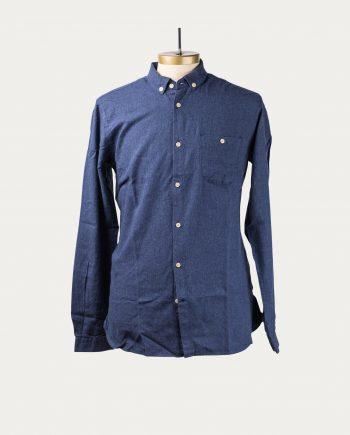knowledge_cotton_apparel_chemise_flanelle_bleu_1