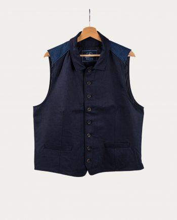 "TGSU Gilet ""Full Buttoned Waistcoat Blue Loden"""