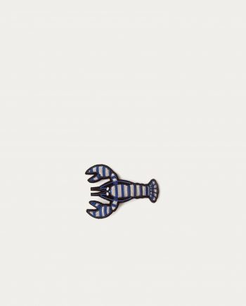 Macon_lesquoy_broche_homard_bleu_rayures