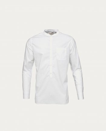knowledge_cotton_apparel_chemise_garment_dyed_long_white
