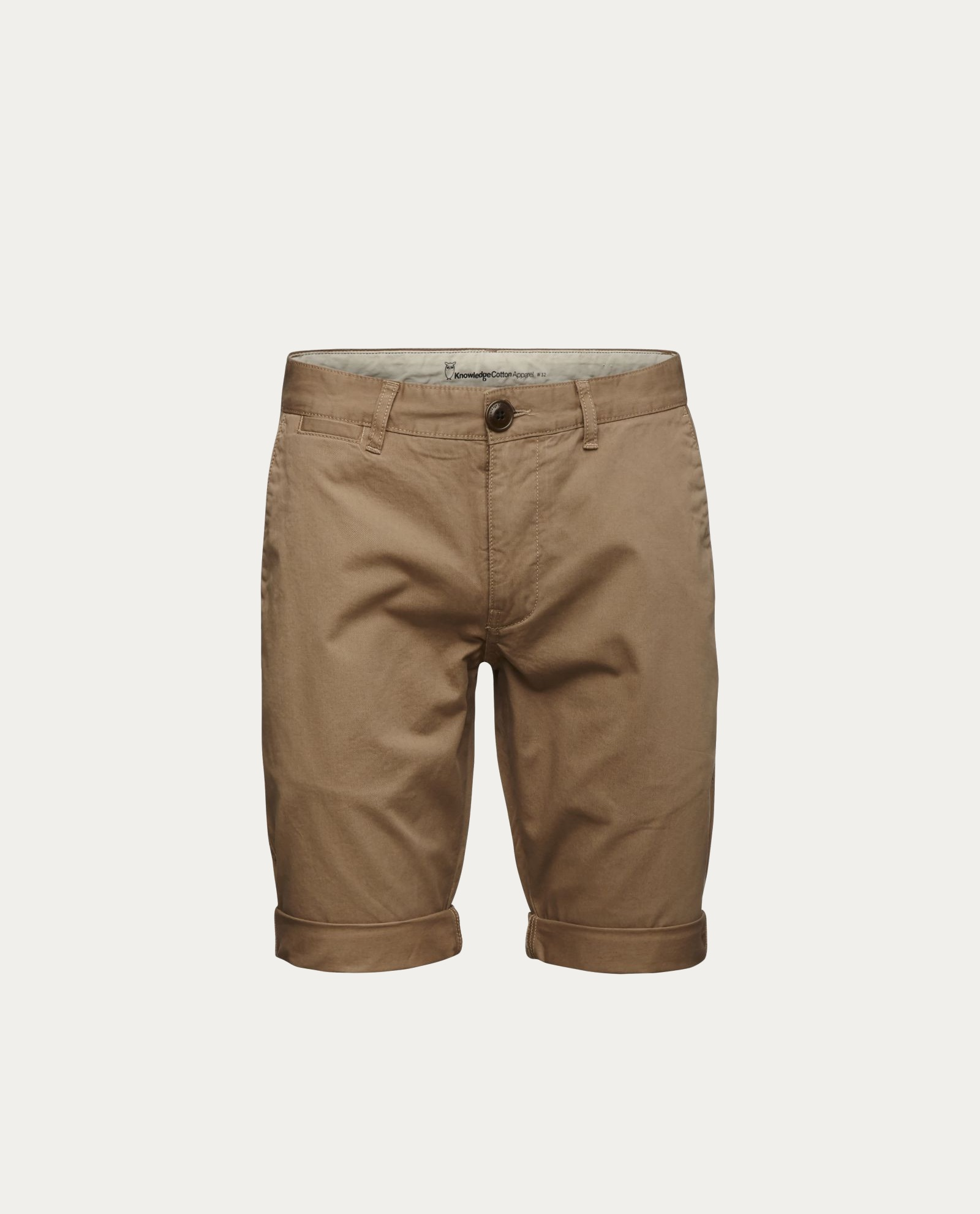 knowledge_cotton_apparel_shorts_twisted_twill_beige