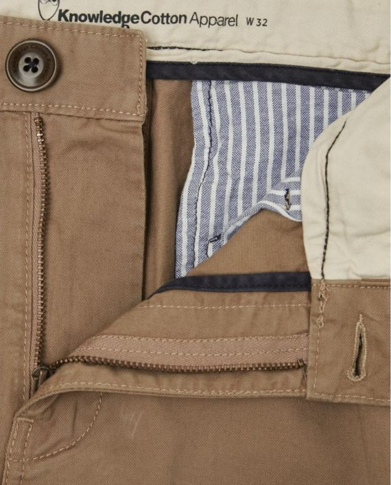 knowledge_cotton_apparel_shorts_twisted_twill_beige_2