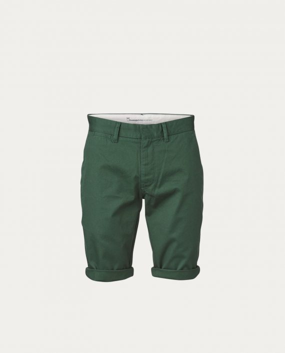 knowledge_cotton_apparel_shorts_twisted_twill_olive