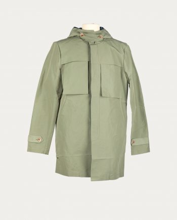 three_animals_trench_coat_water_resistance_green