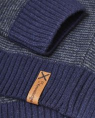 knowledge_cotton_apparel_pull_stripped_round_neck_bleu_1