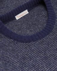 knowledge_cotton_apparel_pull_stripped_round_neck_bleu_2