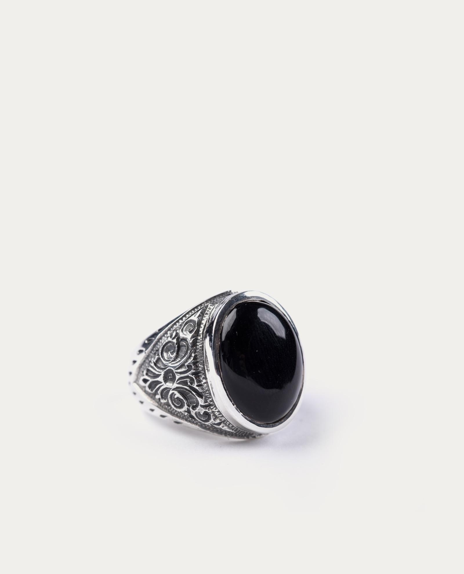 tonsor cie bague argent baroque agate noir 1 ·  tonsor cie bague argent baroque agate noir 2 039e7ff220db