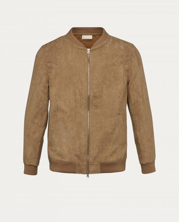 knowledge_cotton_apparel_blouson_suede_jacket_beige