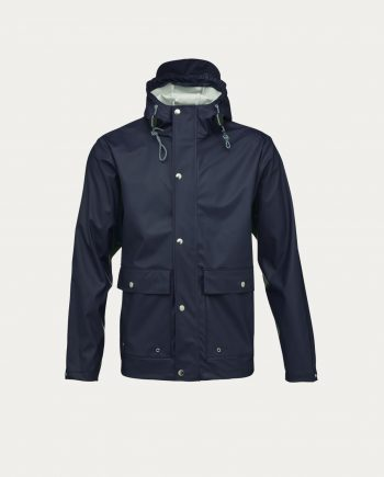 knowledge_cotton_apparel_rain_jacket_bleu