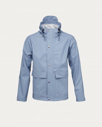 knowledge_cotton_apparel_rain_jacket_bleu_ciel
