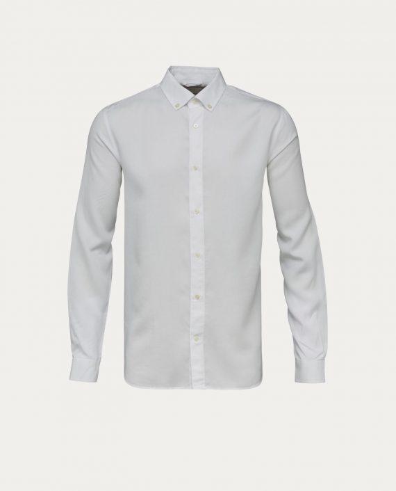 knowledge_cotton_apparel_chemise_tencel_shirt_blanc