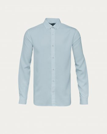 knowledge_cotton_apparel_chemise_tencel_shirt_bleu