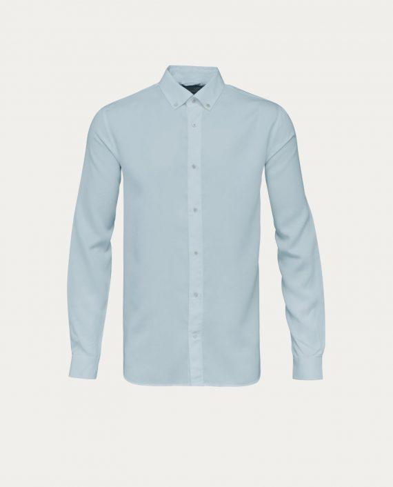knowledge_cotton_apparel_chemise_tencel_shirt_bleu