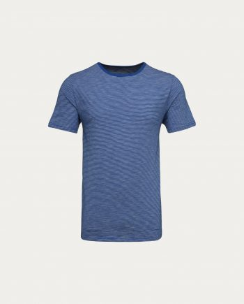 knowledge_cotton_apparel_t_shirt_short_sleeve_striped_bleu_indigo