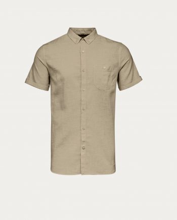 knowledge_cotton_apparel_chemise_short_sleeved_cotton_linen