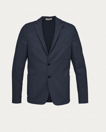 knowledge_cotton_apparel_veste_structured_blazer_bleu