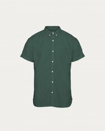 tonsor_cie_knowledge_cotton_apparel_ chemise _short_sleeved_cotton_linen_vert
