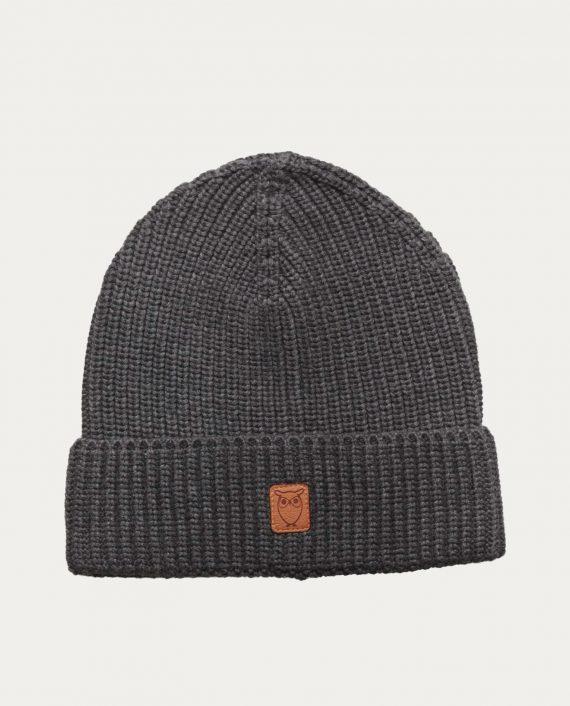knowledge_cotton_apparel_bonnet_gris