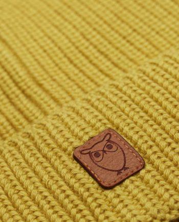 knowledge_cotton_apparel_bonnet_jaune_1