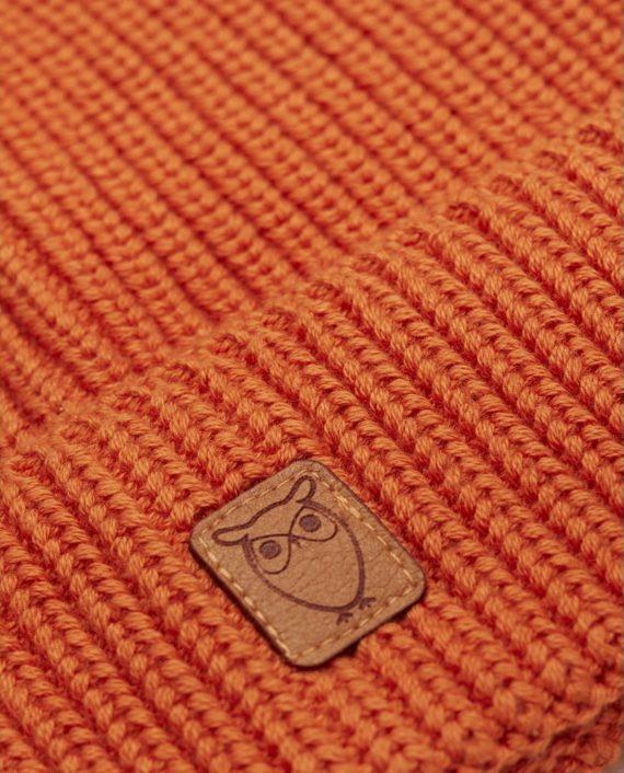 knowledge_cotton_apparel_bonnet_orange_1