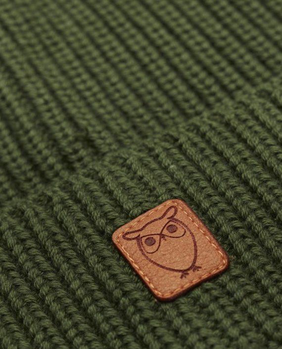 knowledge_cotton_apparel_bonnet_vert_1