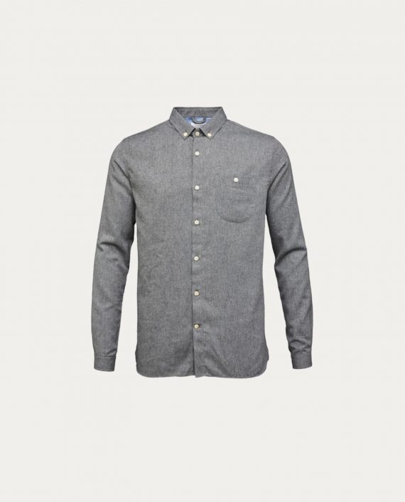 knowledge_cotton_apparel_melange_effect_flannel_shirt_gris
