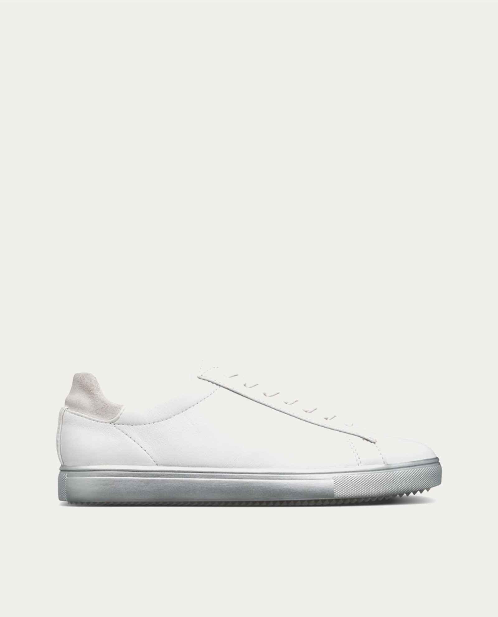 Bradley White Silver Leather Sneakers