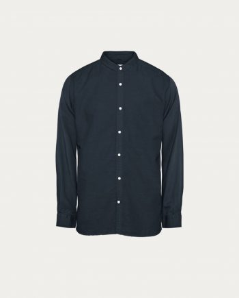 tonsor_cie_knowledge_cotton_apparel_chemise_cotton_linen_stand_collar_marine