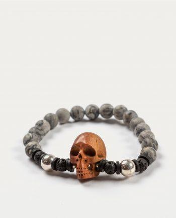 tonsor_cie_boo_design_bracelet_gris_tete_de_mort_marron