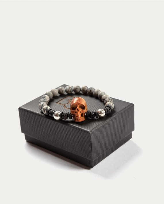 tonsor_cie_boo_design_bracelet_gris_tete_de_mort_marron_1