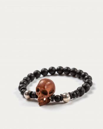 tonsor_cie_boo_design_bracelet_noir_tete_de_mort_marron