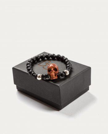 tonsor_cie_boo_design_bracelet_noir_tete_de_mort_marron_2