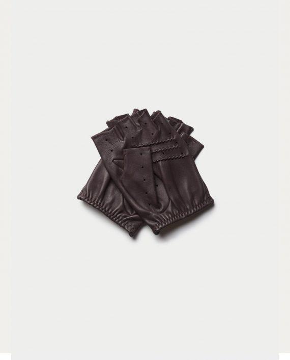 gants triton black coffee cafe leather