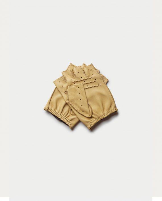 gants triton dos creme